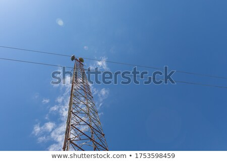 Telecommunication tower,seen from below Stock photo © ironstealth