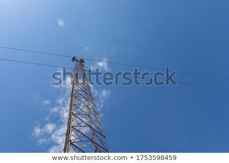 セル · 塔 · ラジオ · アンテナ · 外 - ストックフォト © ironstealth
