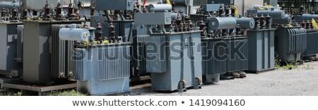 Oude transformator station roestige buiten stad Stockfoto © ironstealth