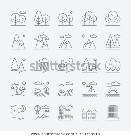 city background thin line icon stock photo © rastudio