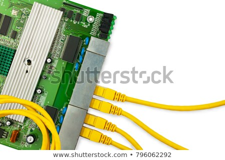 Circuit board with patchcord Stock photo © vtls
