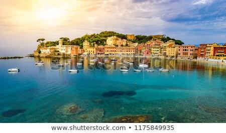 Stilte beroemd kleine stad zee Blauw reizen Stockfoto © Antonio-S