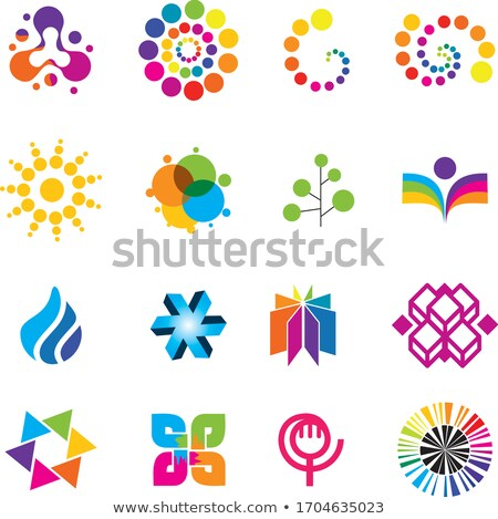 flat agriculture and flowers squared app icons set stock photo © anna_leni