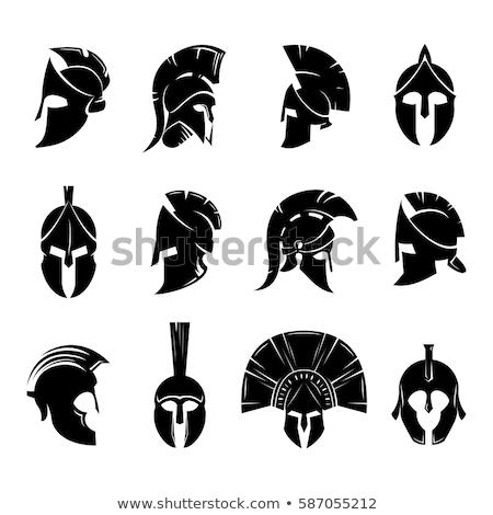 spártai · ősi · görög · sisak · harcosok · római - stock fotó © netkov1