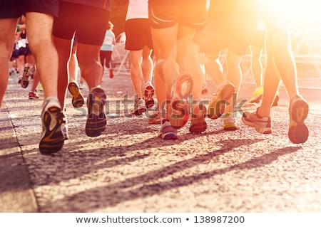 courir · foule · grand · groupe · personnes · fitness - photo stock © Tawng