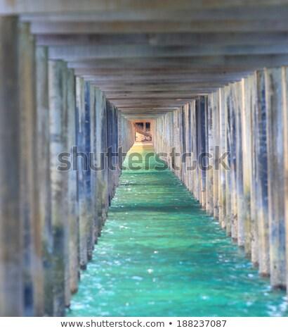 Under Jetty Sunrise  Stock photo © jaffarali