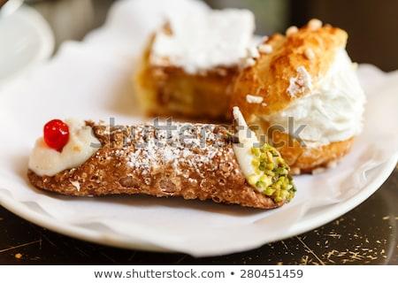 İtalyan pasta çilek kivi ahududu Stok fotoğraf © MaxBarattini