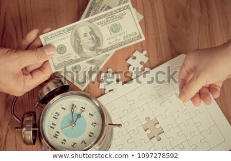 Trading - Puzzle on the Place of Missing Pieces. Stock photo © tashatuvango