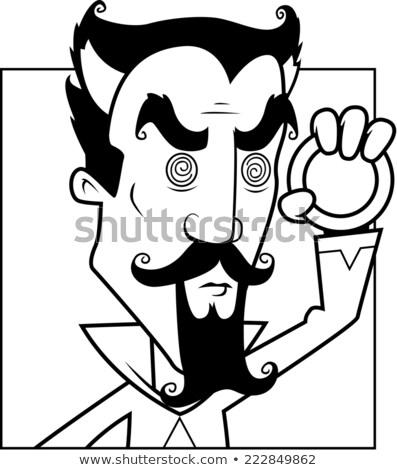 Muska karikatür adam kötü büyü Stok fotoğraf © cthoman