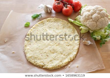 カリフラワー · ピザ · 作品 · 羊皮紙 · 紙 · まな板 - ストックフォト © rojoimages