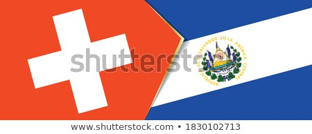 Switzerland and El Salvador Flags  Stock photo © Istanbul2009