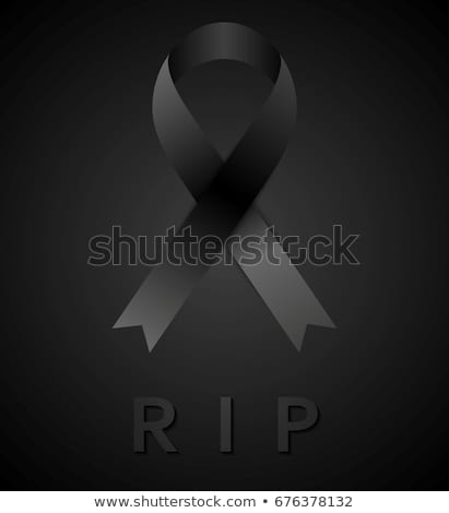 Black mourning tape and rip inscription Stock photo © saicle