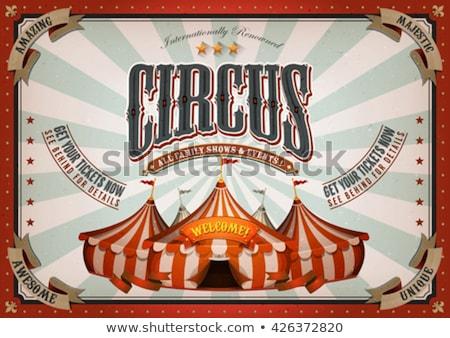 Magic Circus Red Frame Stock photo © benchart