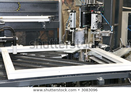 Kunststoff Fenster arbeiten Maschine Holz Bau Stock foto © Paha_L