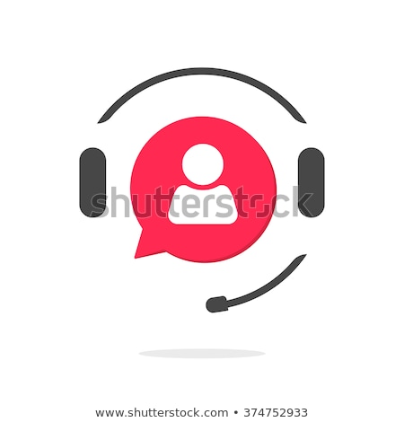 Tech Support Red Vector Icon Design stock photo © rizwanali3d