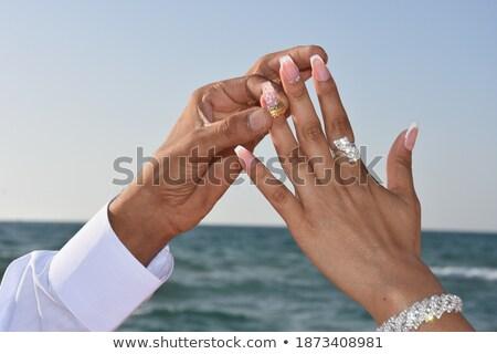 novia · cielo · boda · cara · amor · moda - foto stock © Paha_L
