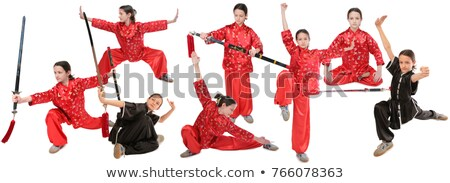 Kung fu girl sword exercise Stock photo © Paha_L