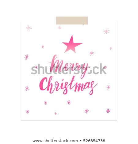 Neşeli Noel pembe dizayn eps Stok fotoğraf © rommeo79