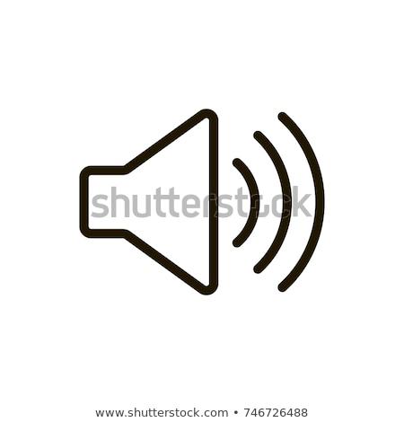 hangerő · vonal · ikon · vektor · izolált · fehér - stock fotó © rastudio