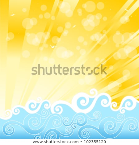 summer background with burst eps 10 stock photo © beholdereye