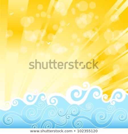 Nyár kitörés eps 10 nap becsillanás Stock fotó © beholdereye