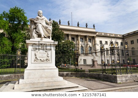 Statue of Wilhelm von Humboldt in Berlin Stock photo © meinzahn