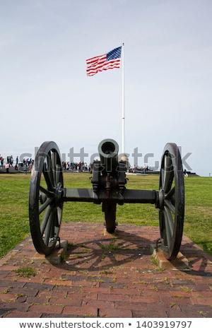 Vasaló ágyú fotó öreg színes kép stílus Stock fotó © Massonforstock