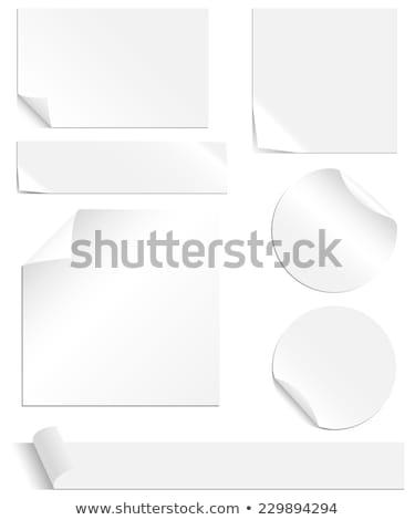 irodaszerek · szín · papír · fekete · asztal · iroda - stock fotó © viperfzk