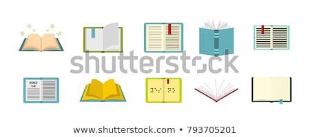 opened books on a bookshelves background Stock photo © alrisha