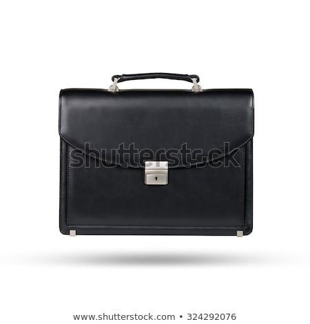 Işçi evrak çantası yalıtılmış beyaz el arka plan Stok fotoğraf © Elnur
