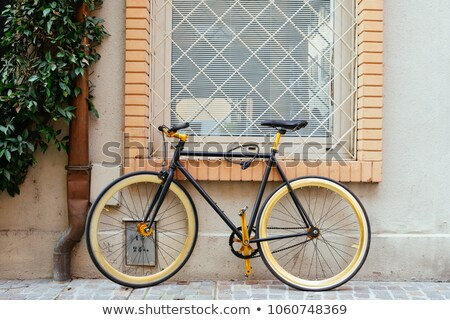 Ahşap model ağaç kapalı bisiklet Stok fotoğraf © sveter