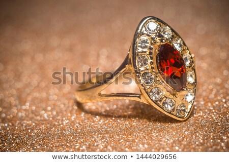 Ring Rood edelsteen exemplaar ruimte juweel object Stockfoto © grafvision
