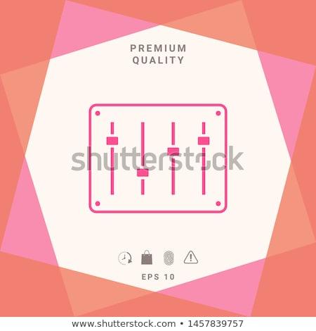 Hang keverő konzol vonal ikon sarkok Stock fotó © RAStudio