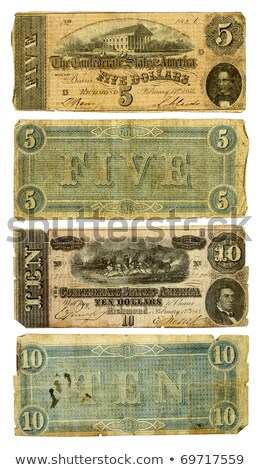 old confederate money background stock photo © 3mc