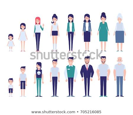Gerações conjunto homem mulher envelhecimento Foto stock © Voysla