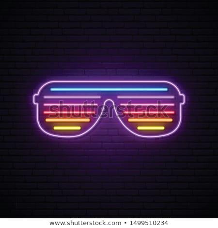 retro · occhiali · da · sole · zucche · riflessione · isolato - foto d'archivio © m_pavlov