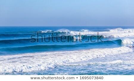 Hullám óceán Madeira part tenger háttér Stock fotó © compuinfoto