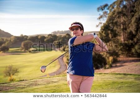 kadın · golfçü · güzel · genç · kadın · gülümseme · golf - stok fotoğraf © dash