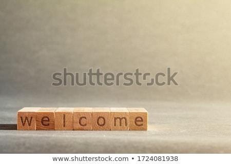 bijwerken · teken · houten · tafel · klok · business · kantoor - stockfoto © fuzzbones0