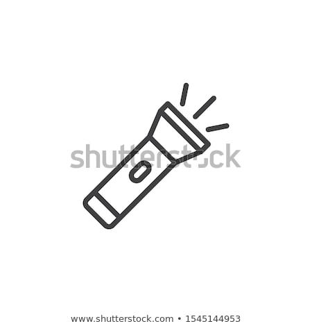 警察 懐中電灯 アイコン ボタン デザイン ストックフォト © angelp