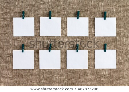 Precisely aligned rows of blank memo pads Stock photo © ozgur