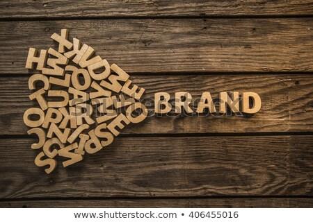 puzzle · szó · márka · kirakó · darabok · iroda · építkezés - stock fotó © fuzzbones0