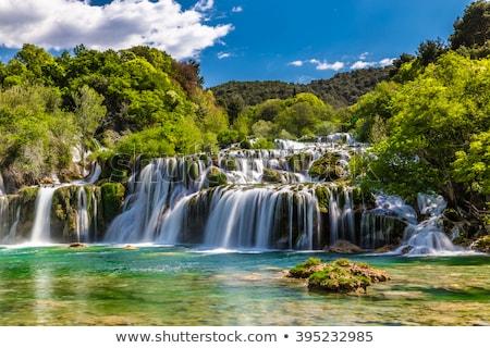 Cachoeiras parque Croácia europa água verde Foto stock © smuki