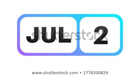 Második naptár webes gomb második világ sportok Stock fotó © Oakozhan