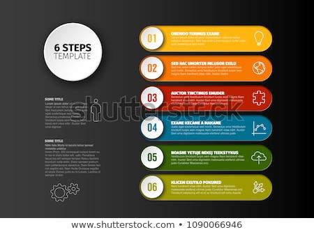 Vier Rechteck Schritte Farbe Rendering 3D-Darstellung Stock foto © Oakozhan
