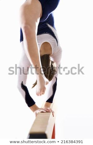 Egyensúly nyaláb fehér illusztráció háttér művészet Stock fotó © bluering