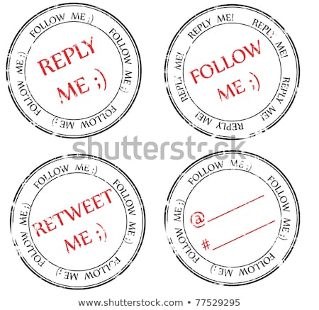 set of stamps to Twitter: follow, reply, retweet stock photo © H2O