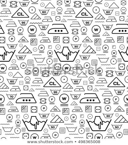 mosás · törődés · szimbólumok · vektor · ikon · gyűjtemény · textil - stock fotó © m_pavlov