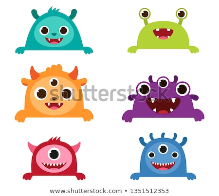 Monster Peeking Stock photo © Lightsource