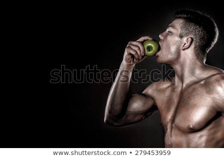 スポーツマン リンゴ 見える カメラ 男性 ストックフォト © goir